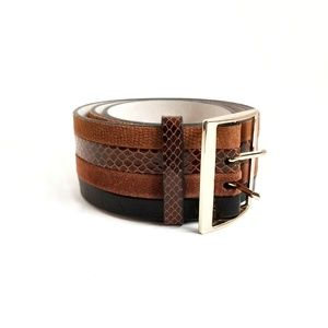 White House Black Market Wide Thick Leather Belt
